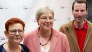 Nach der Wahl: Petra Rossbrey (Mitte), mit ihren Stellvertretern Barbara Dembowski und Hauke Hummel