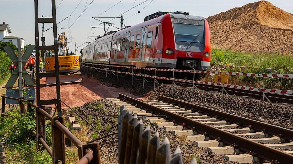 Großbaustelle: Die Strecke soll viergleisig ausgebaut werden.