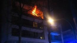 Ein Toter bei Wohnungsbrand – A661 am Abend in beide Richtungen gesperrt