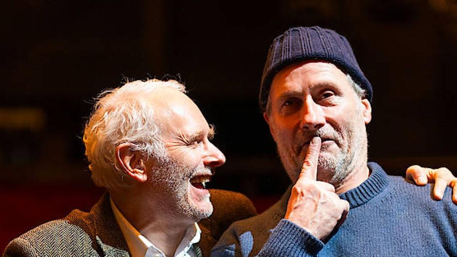 Ein Herz und eine Seele für das Theater: Wenn Herbert Fritsch (links) und Wolfram Koch aufeinandertreffen, geht es rund.