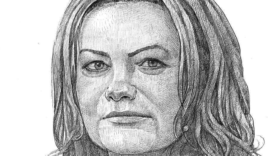 """""""Kopf des Jahres"""" in der Immobilien-Branche: Sonja Wärntges, wie unser Zeichner sie sieht"""