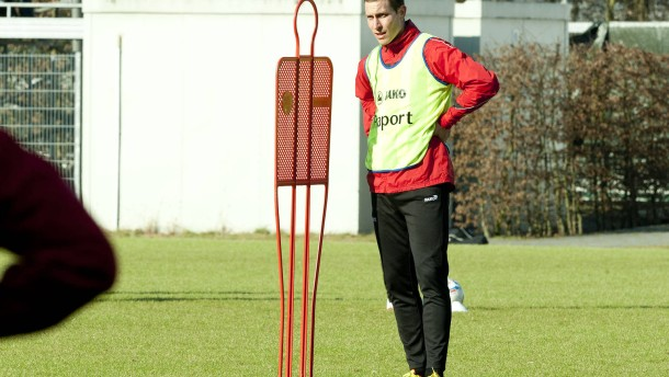 Frankfurter Eintracht - Training an der WM-Arena in Frankfurt.