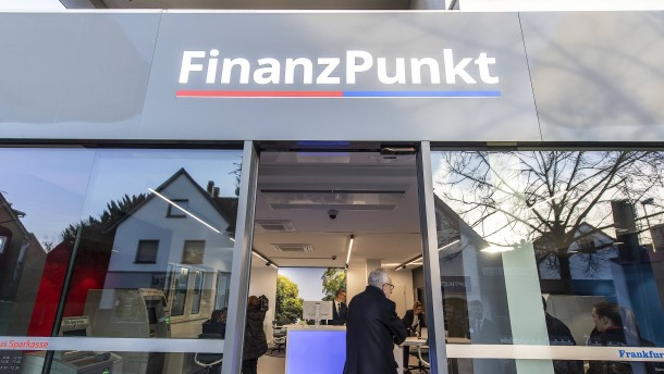 Zwei Banken, eine Filiale