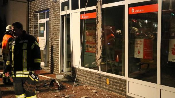 Wieder zwei Geldautomaten in Hessen gesprengt