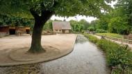 Unglücksort: Wassergraben im Frankfurter Zoo