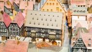 Wie früher: Die im Modell rekonstruierte Hanauer Altstadt mit dem Goldschmiedehaus in der Mitte