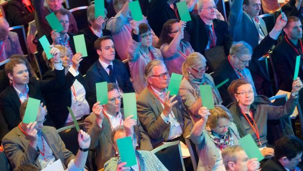 Alternative für Deutschland Gründungsparteitag Hessen - Die Partei AfD feiert die Gründung des hessischen Landesverbands im Frankfurter Thurn und Taxis-Palais