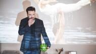 """""""Dirty Dancing"""" im Hintergrund: der Kinomacher vor einem Standbild eines seiner Lieblingsfilmes"""