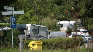 Streitfall: Wildes Campen ist für die einen viel Lärm um nichts, für andere aber ein Ärgernis - hier Wohnmobile irischer Landfahrer auf einem Campingplatz in Eppstein