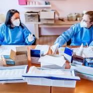 """Hygienisch: Im Mainzer Heim """"Pro Seniore"""" wird die Impfung von Altenheimbewohnern und Pflegepersonal vorbereitet."""