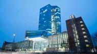 Bezogen, aber noch nicht eröffnet: Der Neubau der Europäischen Zentralbank im Frankfurter Ostend