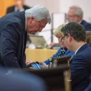 Politische Gegner: Volker Bouffier (links) und Thorsten Schäfer-Gümbel
