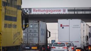 Ärger über fehlende Rettungsgassen