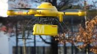 Luftfracht: Ob das Paket mit einer Drohne schneller sein Ziel erreicht hätte?