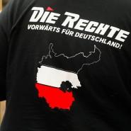 """Will die Stadt Kassel auf ihrem Gebiet nicht sehen: Demonstration von Sympathisanten der Minipartei """"Die Rechte"""""""