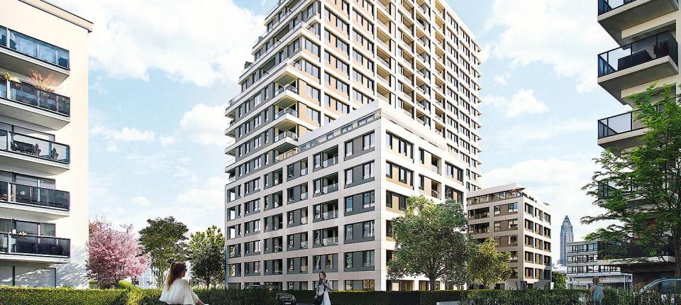 neuer frankfurter wohnturm im europaviertel schon fast ausverkauft. Black Bedroom Furniture Sets. Home Design Ideas