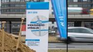 Kaiserlei-Kreisel wird umgebaut: Spatenstich gesetzt