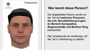 Polizei fahndet mit Plakat nach Räuber von Bensheim