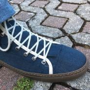 Der Schuh wie die Jeans: Sneaker aus Selvedge-Stoff mit Bio-Denim, allerdings aus Produktionsresten