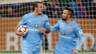 Frankfurter Führungskräfte: Alexander Meier und Haris Seferovic sollen den Schalker Riegel knacken.