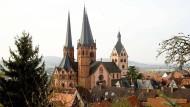 """Heimat des """"Gelnhäuser Tageblatts"""": Blick auf Gelnhausen mit der evangelischen Marienkirche"""