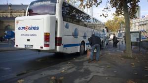 Im Linienbus von Frankfurt nach München