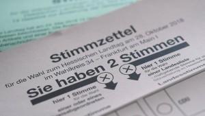 Briefwahl zur hessischen Landtagswahl beginnt
