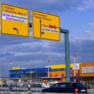 Voll: Frankfurt Gewerbegebiete im Norden der Stadt