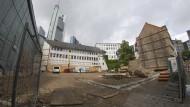 Bauplatz: Neben Goethes Geburtshaus soll das Romantik-Museum in Frankfurts Innenstadt entstehen