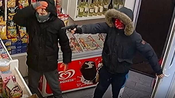 Frankfurter Polizei sucht Räuber per Foto und Video
