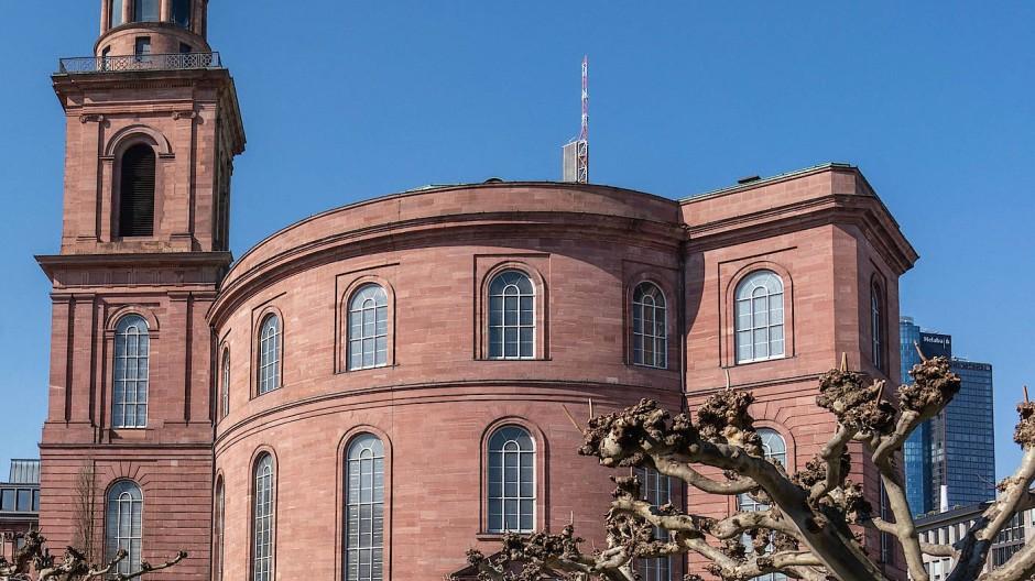 Hier enstand die erste demokratische Verfassung Deutschlands: Die Paulskirche in Frankfurt