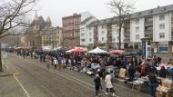 Neu: Der Flohmarkt ist an das nördliche Mainufer von Frankfurt umgezogen