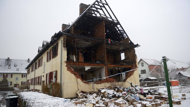 Gasexplosion in Rotenburg a. d. Fulda