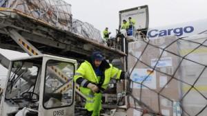Sonderflug mit 75 Tonnen Hilfsgütern gestartet
