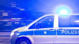 Kennzeichen von Streifenwagen gestohlen – Zug kollidiert mit Baggerarm