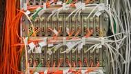 Ein Teil des Internets: Ein Serverschrank im Rechenzentrum von Interxion.