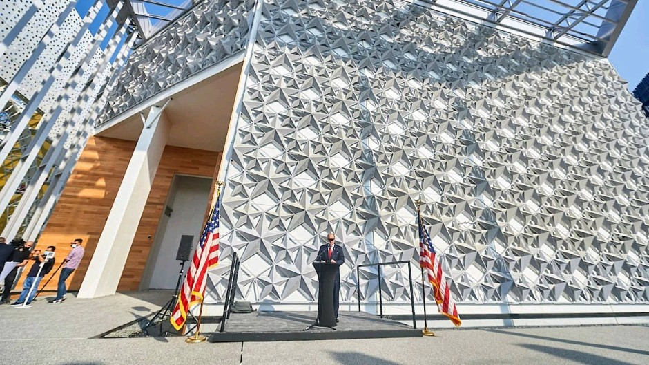 Komplett recyclebar: Den amerikanischen Pavillon für die Expo in Dubai hat die Frankfurter E3-Gruppe in den Emiraten erstellt und baut ihn danach auch ab.