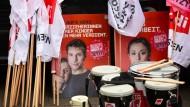 Streikmaterial: Verdi hält für seine Mitglieder unter den Erzieherinnen und Sozialarbeitern in Hessen so allerlei bereit