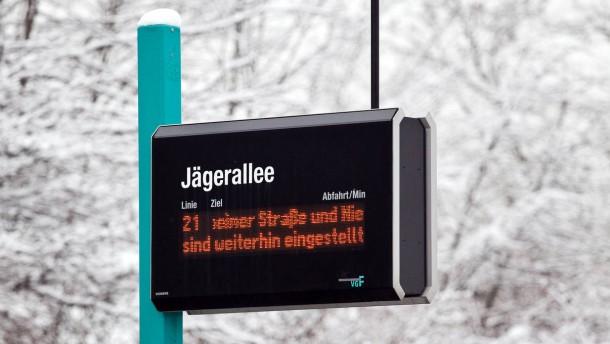 Eiszeit bei den Straßenbahnen: Noch immer fahren nicht alle Linien