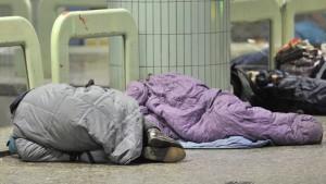 Mehr Obdachlose mit Weihnachtsmarkt-Beginn
