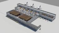 Bleibt bis auf weiteres eine Simulation: das modernste Cargo-Center der Welt, das die Lufthansa in Frankfurt errichten will