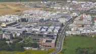 Begehrte Lage: Bauland am Frankfurter Riedberg hat seinen Preis. Das Grundstück vorne rechts kostet 27 Millionen Euro.