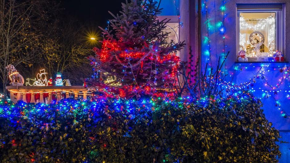Alle Jahre wieder: Die allseits beliebte und üppige Weihnachtsdekoration der Familie Castellaneta-Raimondi.