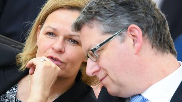 SPD-Vorstand will Faeser als Parteivorsitzende