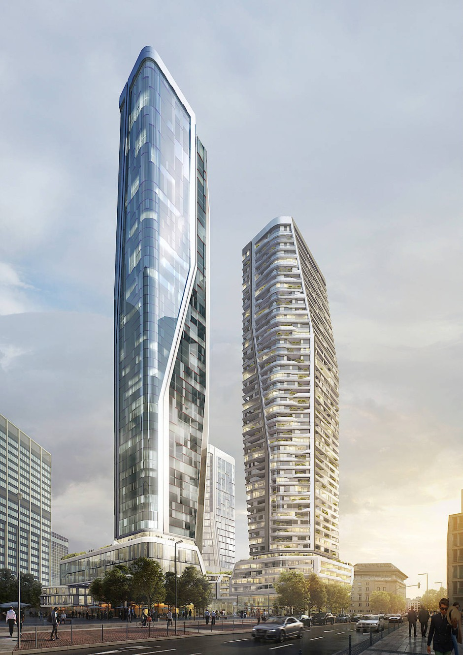 Himmelhoch: Zwei der geplanten neuen Türme