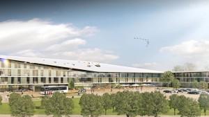 Sportboulevard und Athletenhaus inklusive