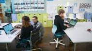 Vor einer ungewissen Zukunft: Büroräume des Social Impact Labs in Frankfurt-Bockenheim.