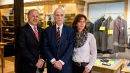 Zwei Generationen Ströhlein: Albrecht Wittner, Hans Werner Wittner (Mitte) und Sabine Wolfraum (geb. Wittner)