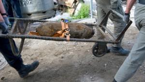 Weltkriegsbombe in Bad Vilbel gesprengt