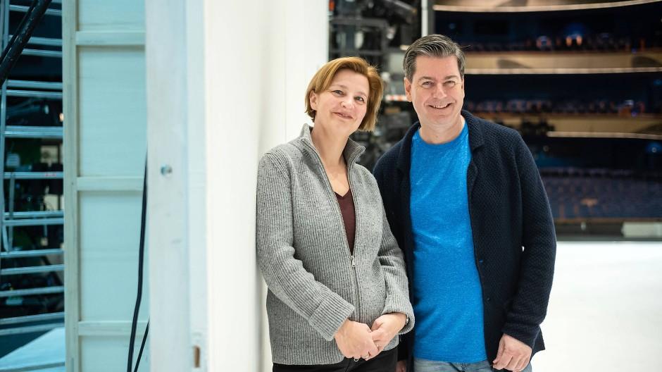 Zwei, die gern miteinander arbeiten: Katharina Thoma und Sebastian Weigle
